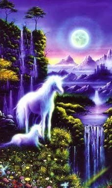 White Unicorns Of Beautified Magic In The Land Of Purple Imagination~~