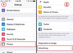 what limit ad tracking on iphone