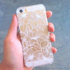 "Clear Plastic Case Cover for iPhone 6Plus (5.5"") Henna Anastasia Flower Abstract Floral Pattern"