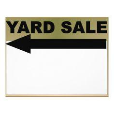 Yard Sale Sign Flyers