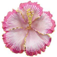 Fuchsia Pink Hawaiian Hibiscus Flower Pin Brooch/Pendant by pinxus