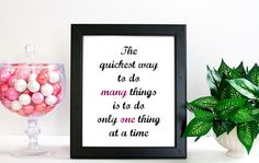 The Quickest Way... Quote Print, Quote Art Print, Art Print, Art Gift, Printed Art, Calligraphic Print, Printable Quote by ScreenQuotes on Etsy
