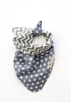 Dog Bandana - Chevron and Crosses