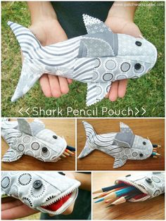 Shark Pencil Case Tutorial