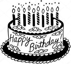 Happy Birthday Cakes, Google Images, Clip Art, Illustration, Desserts, Food, Ticket Invitation, Cake Birthday, Pastries