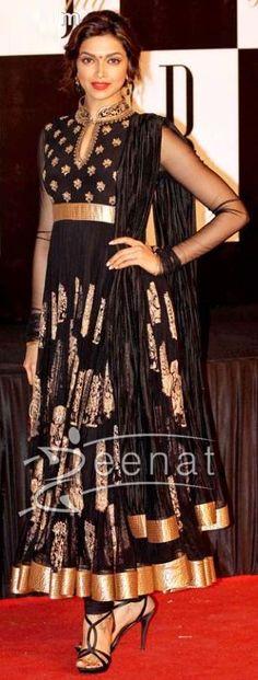 Deepika Black Anarkali