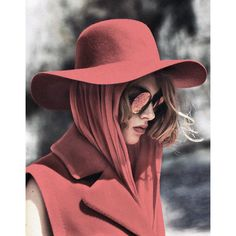 OVERCAST ❤ liked on Polyvore featuring people, hats, models, red and slike