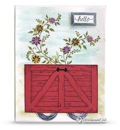 CARD: Adorable Wagon Card from Barn Door Bundle Series – Part 2 | Stampin Up Demonstrator - Tami White - Stamp With Tami Crafting and Card-Making Stampin Up blog