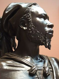Bust of Said Abdullah of the Darfour People by Charles-Henri-Joseph Cordier 1848 CE French Bronze