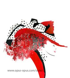 fashion illustration Red Hat