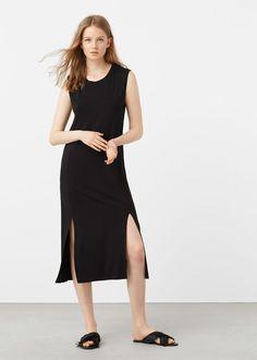 Slit shift dress | MANGO