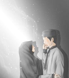 kumpulan kartun romantis parf 3 - my ely Love Cartoon Couple, Cute Couple Art, Cute Love Cartoons, Anime Love Couple, Cute Muslim Couples, Muslim Girls, Cute Couples, Anime Couples, Muslim Brides