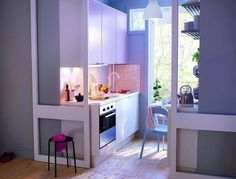 5 Prodigious Ideas: Kitchen Remodel Colors Grey small kitchen remodel eat in.Kitchen Remodel Checklist Wall Colors mobile home kitchen remodel on a budget.Kitchen Remodel Before And After Thrifty Decor. Ikea Small Kitchen, Very Small Kitchen Design, Ikea Small Spaces, Kitchen Sets, New Kitchen, Kitchen Interior, Mini Kitchen, Kitchen Designs, Kitchen Storage