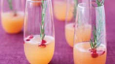 This cocktail is made with icy Moscato d'Asti, which is sweeter than champagne but much lighter than the rich dessert wine also made from Italian moscato grapes. Just the right medium for this fizzy drink, it adds flavor to the silky pear and tart cranberries.
