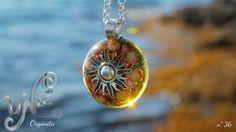 Indian Agate Orgonite Pendant Necklace Energy por UnicArtCreaciones