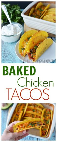 Baked Chicken Tacos - an easy dinner recipe that's sure to please!