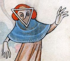 Cubism avant la lettre [BL, Luttrell Psalter, c. Medieval Drawings, Medieval Art, Renaissance Art, Old Man Fashion, Dark Ages, Old Art, Illuminated Manuscript, Emoticon, Ancient Art