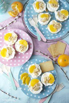 kleine mandarinen käsekuchen ohne backen | no bake mini tangerine cheesecakes ❤ (vegetarian)
