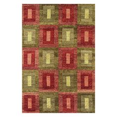 Noble House Legacy Area Rug - Green/Rust - LEG150546