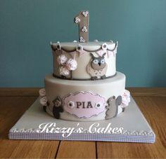 Primera torta de cumpleaños de Pia