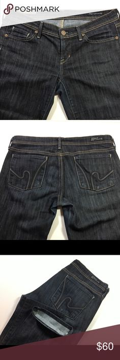 """Citizens of Humanity Wimbledon straight leg jeans. New jeans/never have been worn!   Size 29 dark jeans, stretch, straight leg. Style 145B-104. Cut 5323. Wimbledon  •inseam = 30"""" •rise = 7"""" Hem is in perfect condition, no tears, no holes, no stains. Citizens Of Humanity Jeans Straight Leg"""
