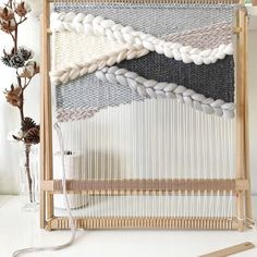 Large neutral woven wall hanging by Blanc Laine