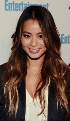 great ombre on dark hair.