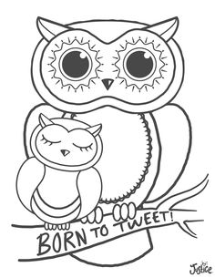 Hoo Loves Coloring Simply Print This Page And Get Started