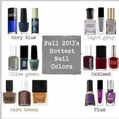 Fall 2013 Colors   Fall 2013 Nail Color   Phoenix Fashion