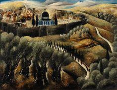 Reuven Rubin (1893-1974) - Jerusalem seen from Mount Scopus