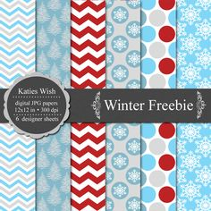 "Free printable wrapping paper.  More patterns available on the site (do a search for ""freebie"")."