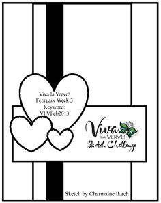Viva la Verve! February 2013 Week 3 Card Sketch {2/15-2/21}   Designed by Charmaine Ikach  #vervestamps #vivalaverve #cardsketches