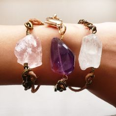 Gemstone Bracelets!  From: http://www.etsy.com/shop/shopfancyfree