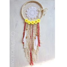 Daisy Hippie Dreamcatcher/Wall Hanging - pinned by pin4etsy.com