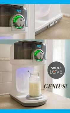 A Keurig-type bottle maker, perfect for those bleary-eyed, middle-of-the-night feedings. #bornfree #summerinfant