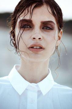 Her makeup.