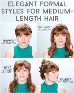 Rock Your Next Formal With These Fancy AF Hairstyles - Coiffure Sites Hair Inspo, Hair Inspiration, Waterfall Braid Tutorial, How To Curl Your Hair, Love Hair, Top Knot, Hair Designs, Bridal Hair