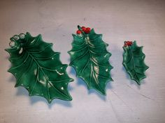 Holland Mold Holly Nesting set of Three Candy by HemmerHomeGoods