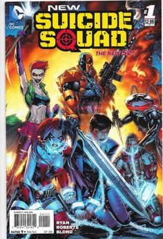 The new series begins with a mission in Russia that features two red-hot Batman villains: Harley Quinn and Joker's Daughter, plus Deadshot, Deathstroke the Terminator, Black Manta and more! Collects NEW SUICIDE SQUAD Heros Comics, Dc Comics Characters, Dc Comics Art, Marvel Dc Comics, Free Comics, Comic Book Covers, Comic Books Art, Comic Art, Harley Quinn