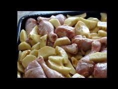 Окорочка запеченные в духовке с картофелем ( самый простой рецепт)