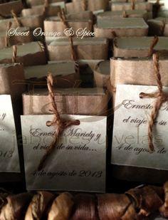 Wedding Favors by Taí...   Sweet Orange & Spice Handmade Soap... www.taijabonesyvelas.com MADE IN PUERTO RICO - HECHO EN PUERTO RICO