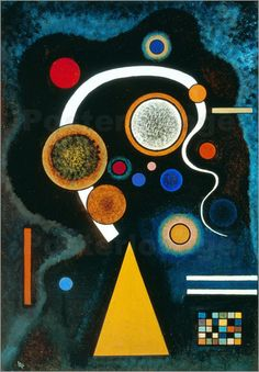 Moody Strokes - Kandinsky, Vasilii (Russian, 1866 - Fine Art Reproductions, Oil Painting Reproductions - Art for Sale at Galerie Dada Wassily Kandinsky, Abstract Expressionism, Abstract Art, Abstract Landscape, Oil Painting Reproductions, Art Moderne, Bauhaus, Psychedelic Art, Fine Art