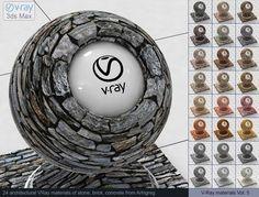 Stone Brick Concrete Vray Materials 3D Модель .max .c4d .obj .3ds .fbx .lwo .stl @3DExport.com by ARHIGREGDESIGN