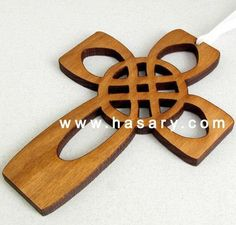 Xmas Laser Cut and Engrave WOOD CROSS