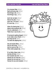 Bucket Filler Chant #bucketfilling