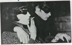 """Maureen Hindley and David Smith at the Moors Murders trial, 1966. Source of inspiration for the cover of Sonic Youth's 1990 album, """"Goo""""."""