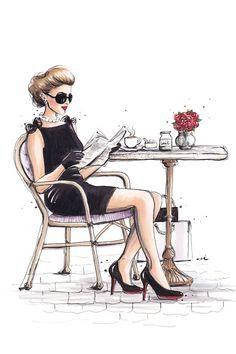 Canvas Art Prints, Canvas Wall Art, Chair Drawing, Designs To Draw, Art Sketches, Art Girl, Illustration Art, Ballet Fashion, Fashion Art