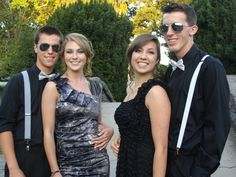 Wes with best friend & their dates for Junior Prom