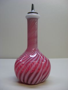 Cranberry Glass Barber Bottle