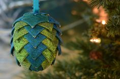 #Paisley Christmas Ornament ~ #Peacock Blue & #Green Holiday Tree Decoration ~ Ha,  View more on the LINK: http://www.zeppy.io/product/gb/3/170806901/